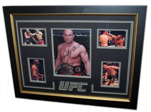 Randy Couture Autographed Framed Photo