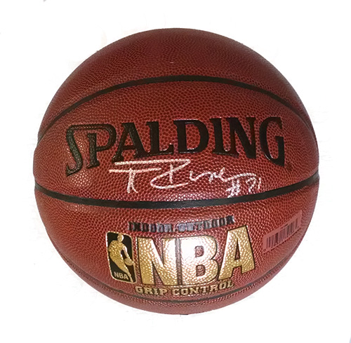 Tim Duncan Autographed Basketball