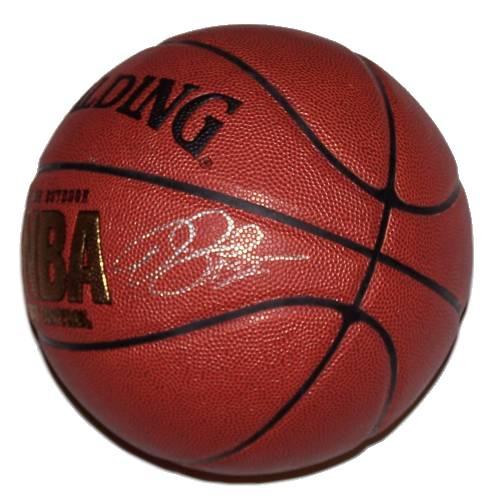 Derek Fisher Autographed Basketball