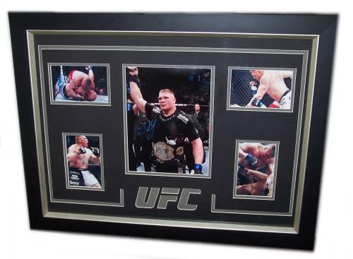 Brock Lesnar Autographed Framed Photo