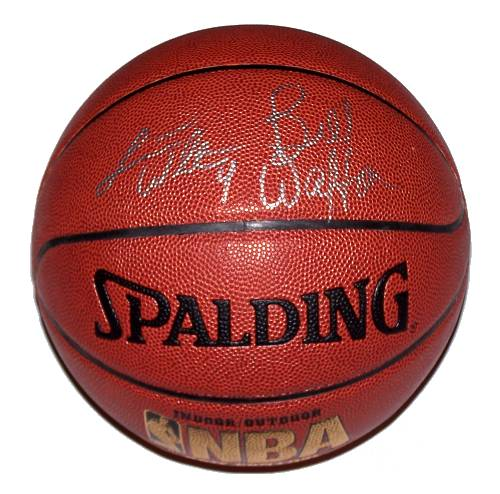 Bill and Luke Walton Autographed Basketball