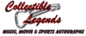 Collectible Legends autographed memorabilia logo