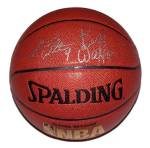 bill and luke walton signed basketball